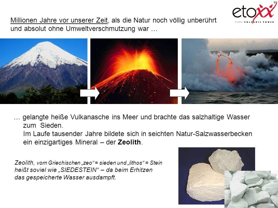 Millionen Jahre vor unserer Zeit, als die Natur noch völlig unberührt und absolut ohne Umweltverschmutzung war … … gelangte heiße Vulkanasche ins Meer