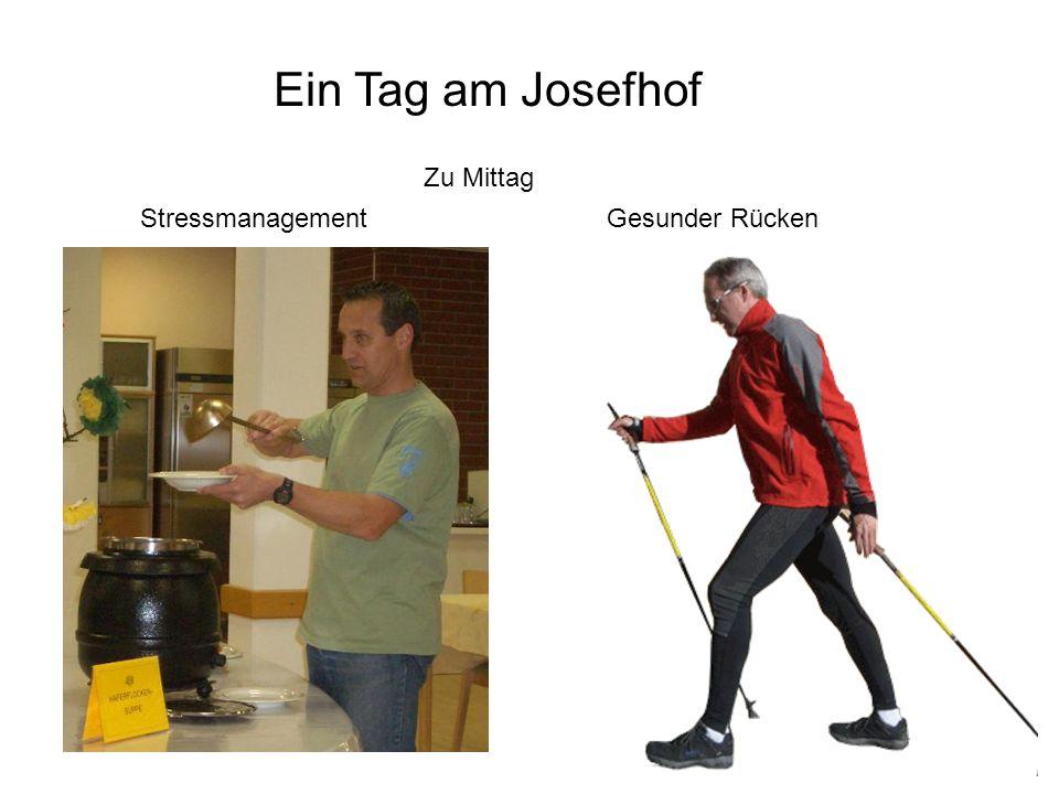 Zu Mittag Stressmanagement Ein Tag am Josefhof Gesunder Rücken