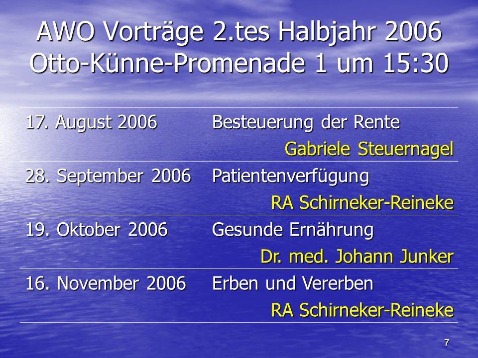 6 AWO Teilnehmer in Dresden bei 32° im Schatten Jahresfahrt 2006 ins Erzgebirge