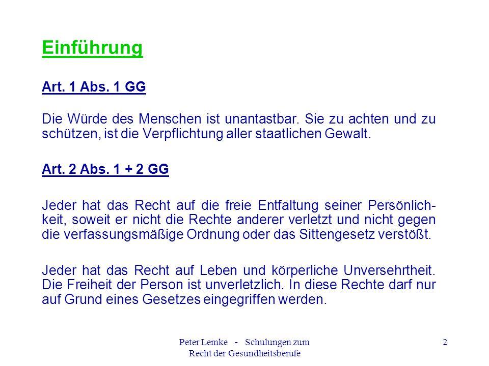 Peter Lemke - Schulungen zum Recht der Gesundheitsberufe 13 VorsorgevollmachtEin Beispiel Klara Mustermann Beispielsweg 1 20000 Hamburg Vorsorgevollmacht Hiermit erteile ich, Klara Mustermann, geb.