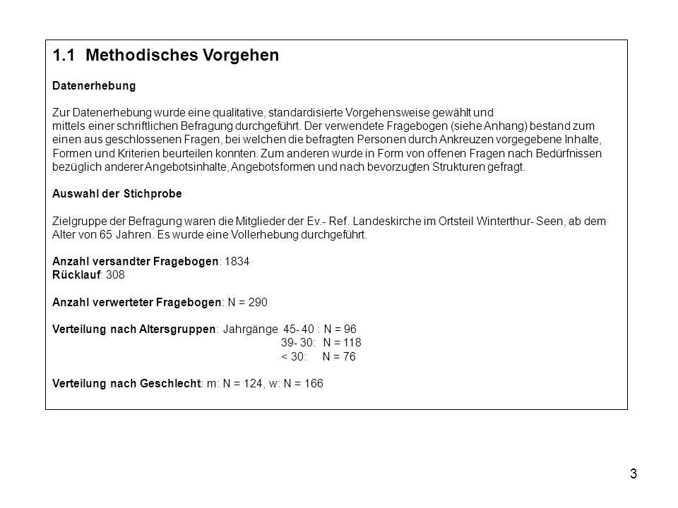 3 1.1 Methodisches Vorgehen Datenerhebung Zur Datenerhebung wurde eine qualitative, standardisierte Vorgehensweise gewählt und mittels einer schriftlichen Befragung durchgeführt.