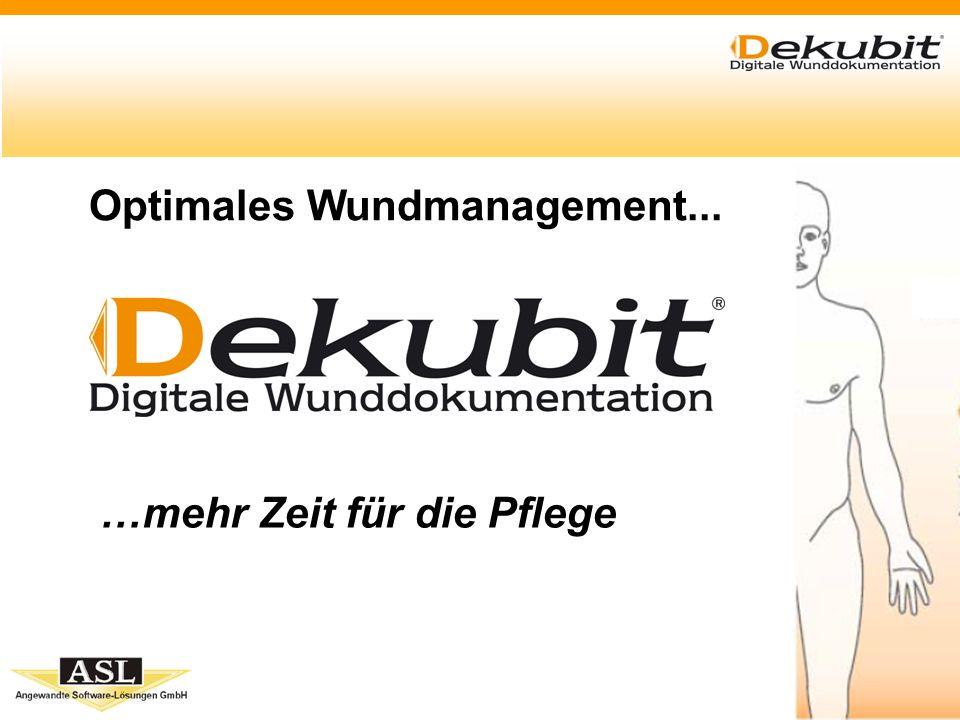 www.dekubit.de Dekubit im Detail Statistik - Ausgabe in ein Berichtsfenster tabellarische Darstellung Abfragen können gespeichert und jederzeit wieder geladen werden