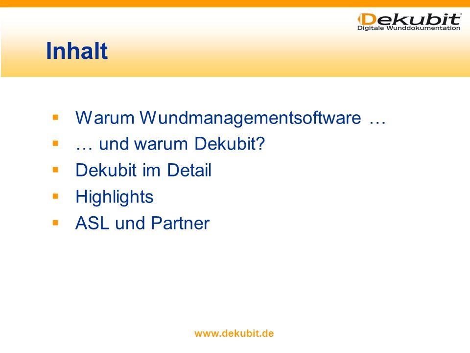 www.dekubit.de Warum Wundmanagementsoftware … … und warum Dekubit.