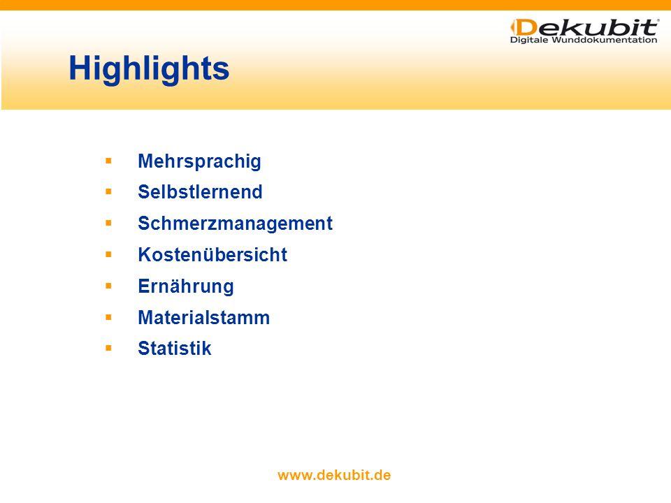 www.dekubit.de mehr Schutz und bessere Übersicht Schutz vor unberechtigtem Zugriff zugriffsberechtigte Nutzer melden sich mit eigenem Passwort an manc