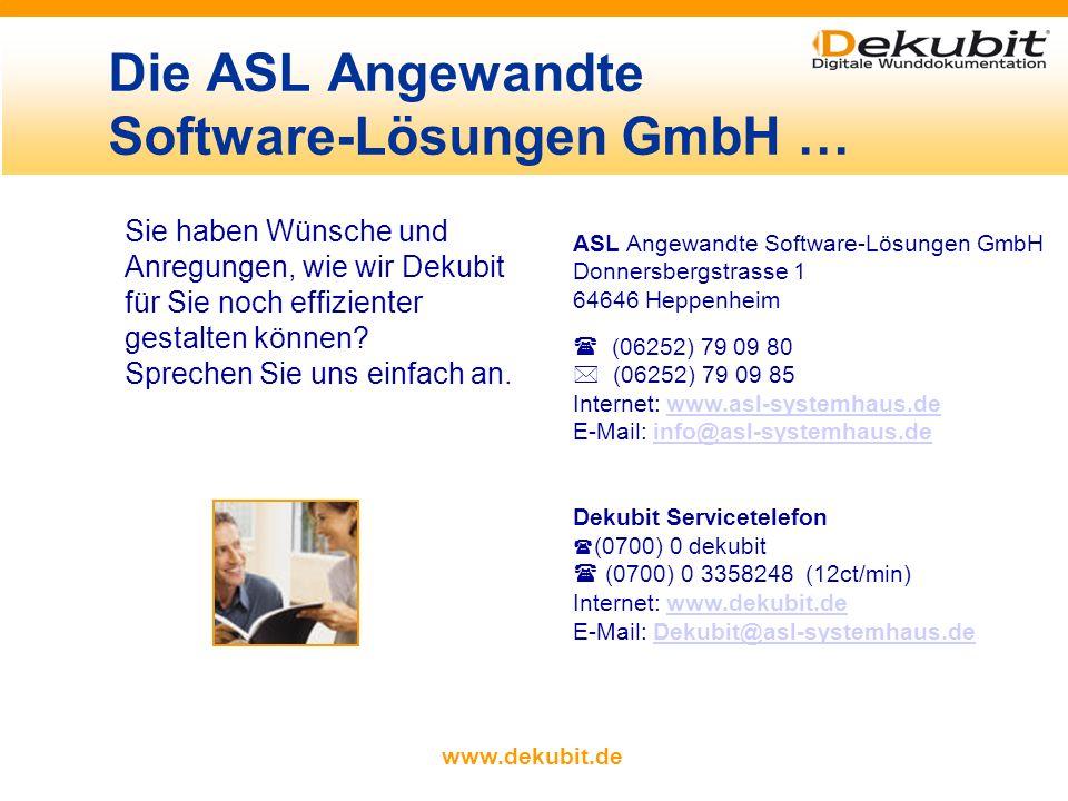 www.dekubit.de Mehrsprachig Selbstlernend Schmerzmanagement Kostenübersicht Ernährung Materialstamm Statistik Highlights