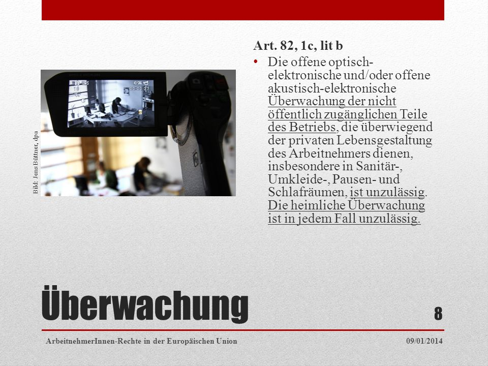 Überwachung Art.