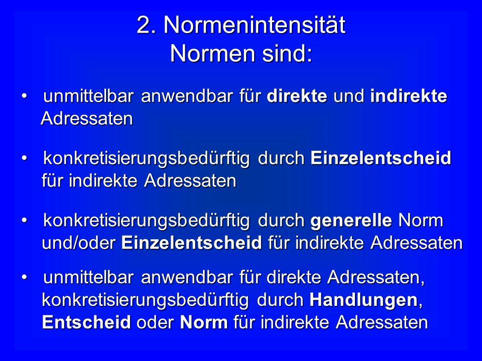 1. Norminhalte Normen definieren: die Träger von Rechten, Pflichten und Befugnissendie Träger von Rechten, Pflichten und Befugnissen die Rechte, Pflic