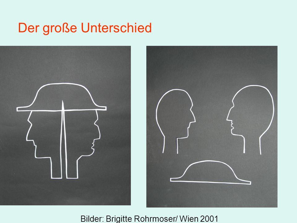 Der große Unterschied Bilder: Brigitte Rohrmoser/ Wien 2001