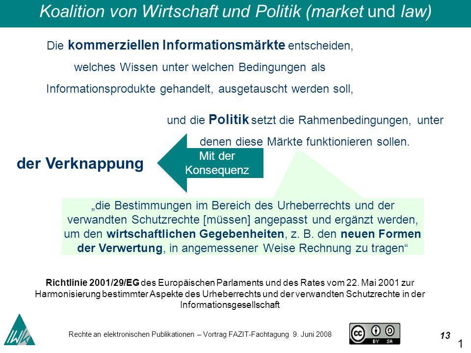 13 Rechte an elektronischen Publikationen – Vortrag FAZIT-Fachtagung 9.
