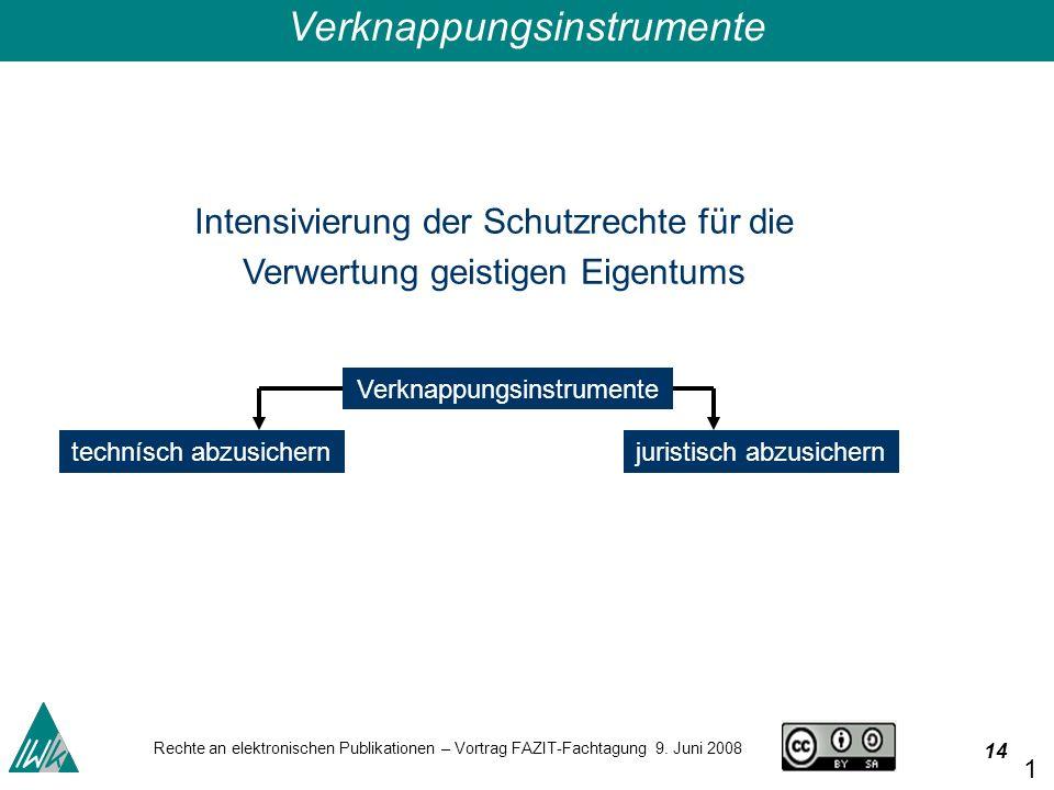 14 Rechte an elektronischen Publikationen – Vortrag FAZIT-Fachtagung 9.