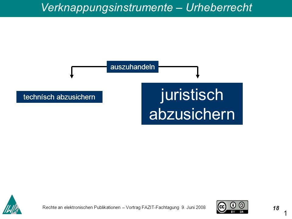 18 Rechte an elektronischen Publikationen – Vortrag FAZIT-Fachtagung 9.