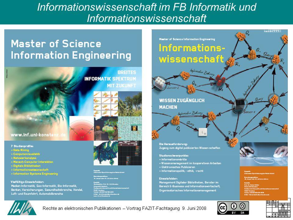 Informationswissenschaft im FB Informatik und Informationswissenschaft