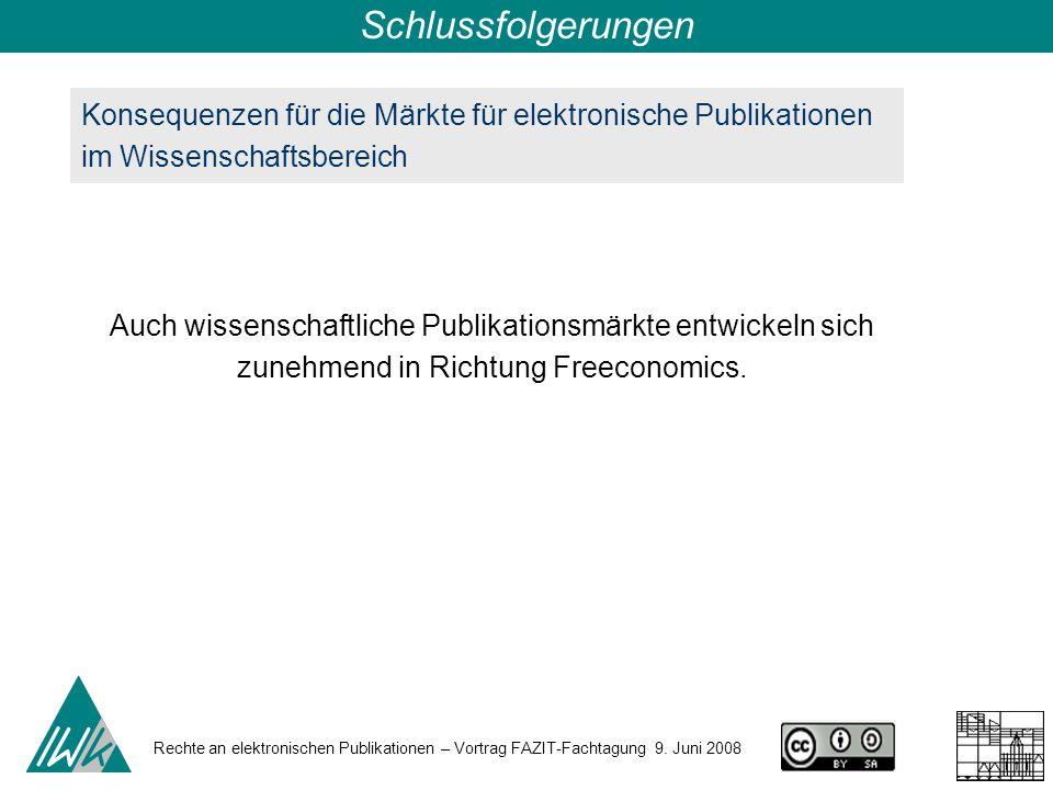 Rechte an elektronischen Publikationen – Vortrag FAZIT-Fachtagung 9.
