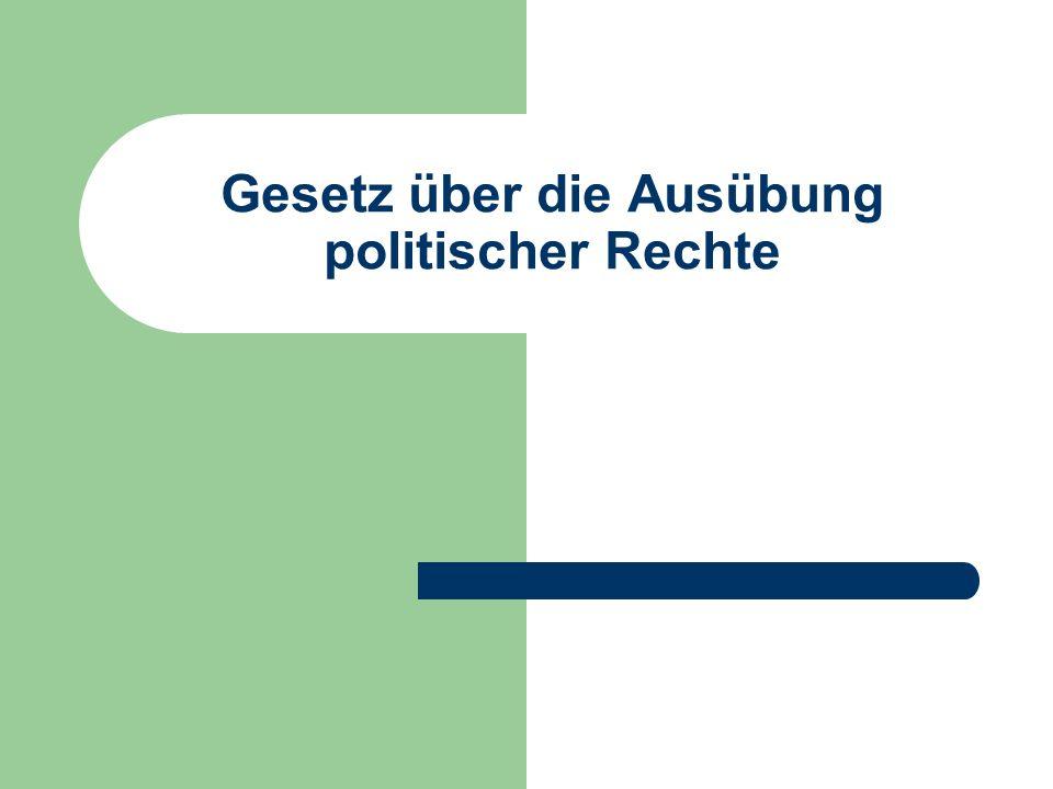 Stimm- und Wahlrecht in Kantonalen Angelegenheiten wenn sie das 18.