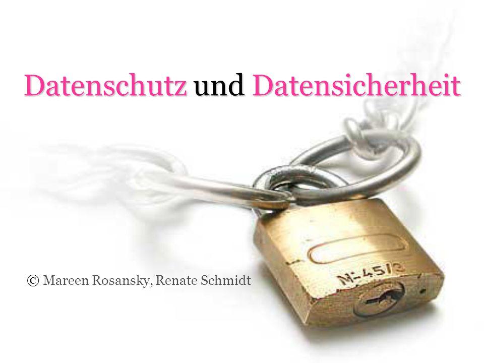 Datenschutz und Datensicherheit © Mareen Rosansky, Renate Schmidt