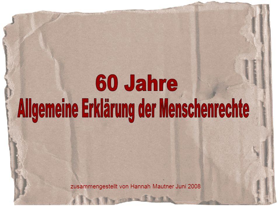Themenübersicht zur Geschichte der Menschenrechte Folie 4-11 Dokumente Folie 12-19 internationale Menschenrechtsarbeit Folie 20-25 regionale Menschenrechtsarbeit Folie 26-31 Menschenrechte im Land Salzburg Folie 32-45 Plattform für Menschenrechte Folie 46-56