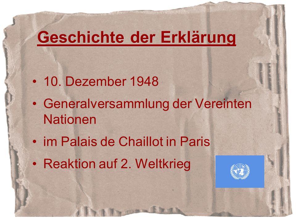 Geschichte der Erklärung 10.