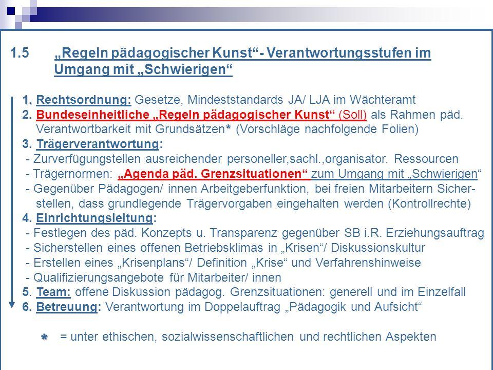 1.5Regeln pädagogischer Kunst- Verantwortungsstufen im Umgang mit Schwierigen 1.