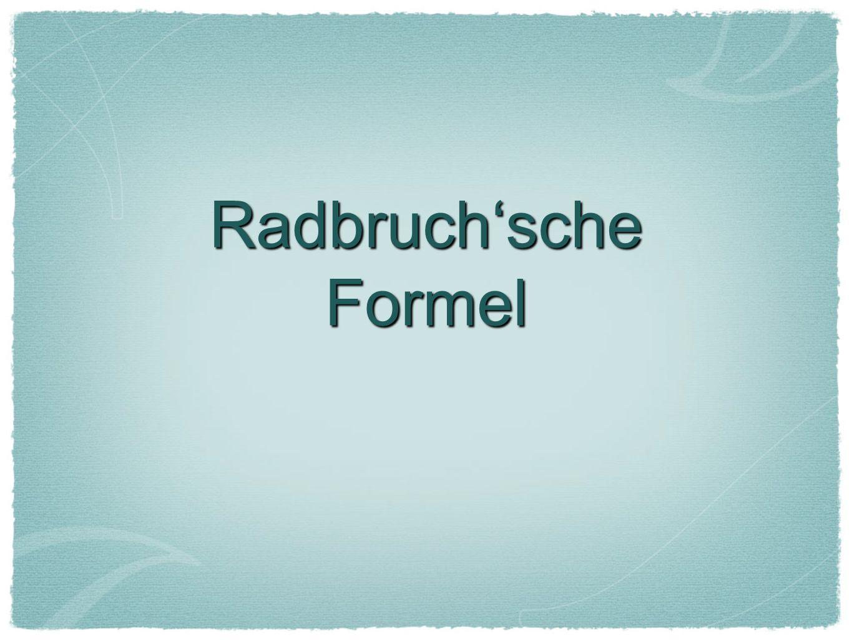 Radbruchsche Formel