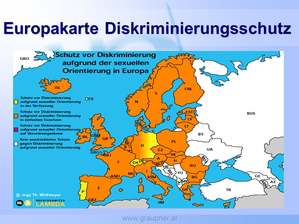 www.graupner.at Europakarte Diskriminierungsschutz