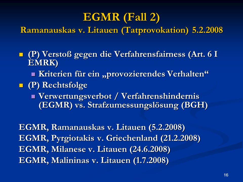 16 EGMR (Fall 2) Ramanauskas v.