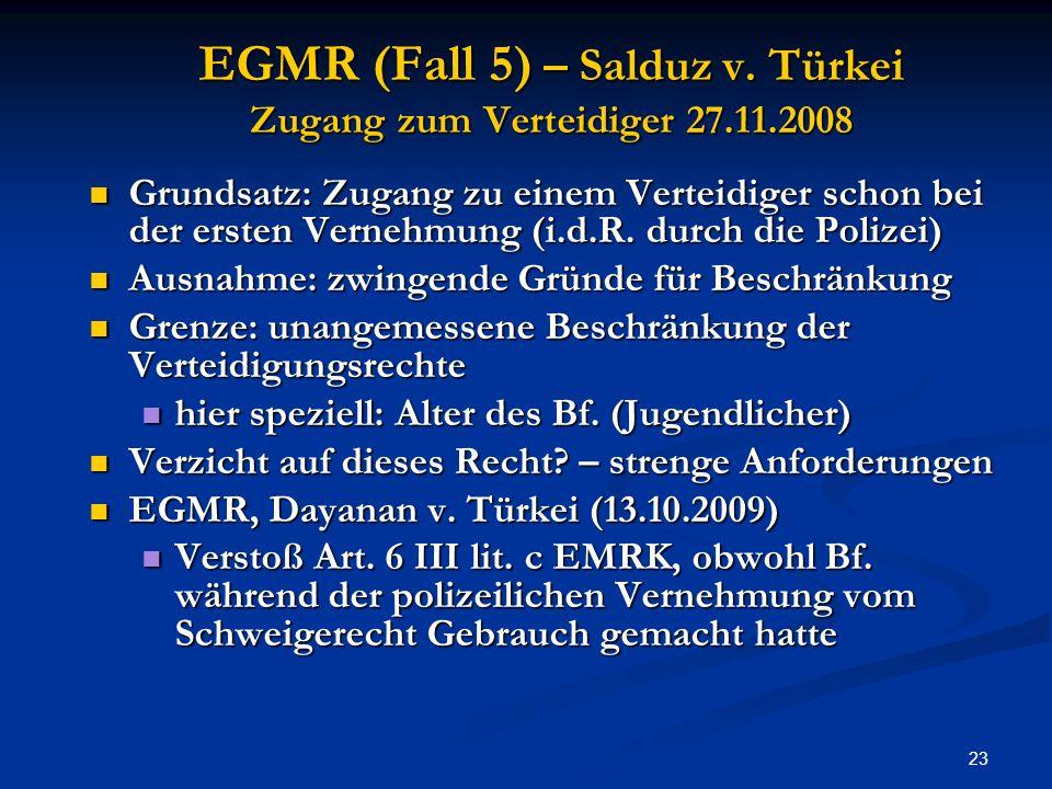 23 EGMR (Fall 5) – Salduz v.