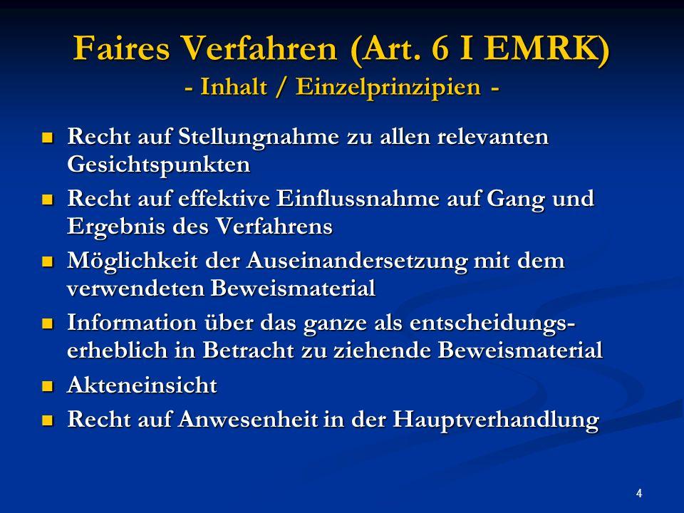 15 EGMR (Fall 1) Gäfgen / Deutschland (GK)1.6.2010 Androhung von Folter = Folter oder (nur) unmenschliche Behandlung.