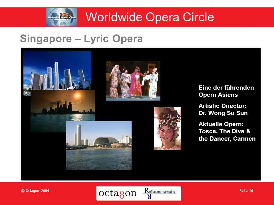 © Octagon 2004Seite 10 Singapore – Lyric Opera Eine der führenden Opern Asiens Artistic Director: Dr.