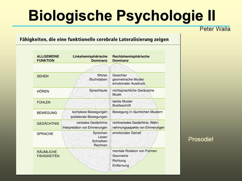 Biologische Psychologie II Peter Walla Prosodie!