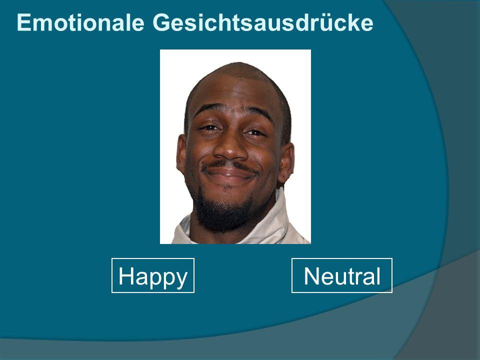 HappyNeutral Emotionale Gesichtsausdrücke