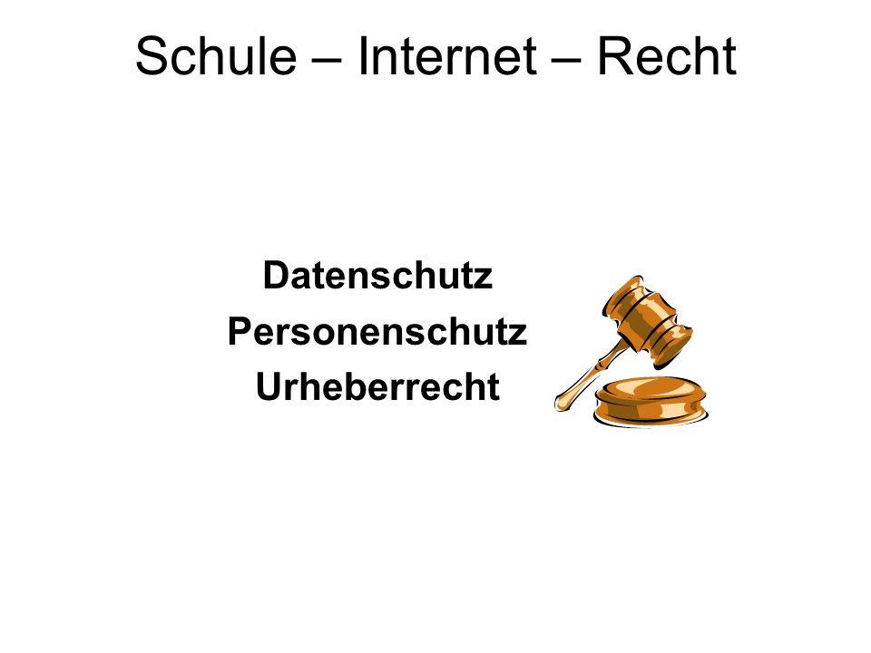 Datenschutz Personenschutz Urheberrecht Schule – Internet – Recht