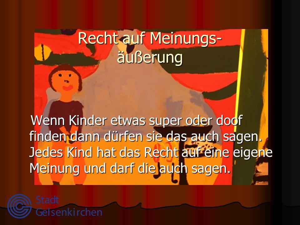 Gedanken-, Gewissens- und Religionsfreiheit In Gelsenkirchen leben Kinder unterschiedlicher Nationen.