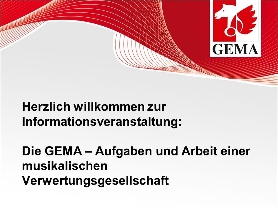 24.05.201 2 Vortrag BLSV Kreis Altötting1 Herzlich willkommen zur Informationsveranstaltung: Die GEMA – Aufgaben und Arbeit einer musikalischen Verwer
