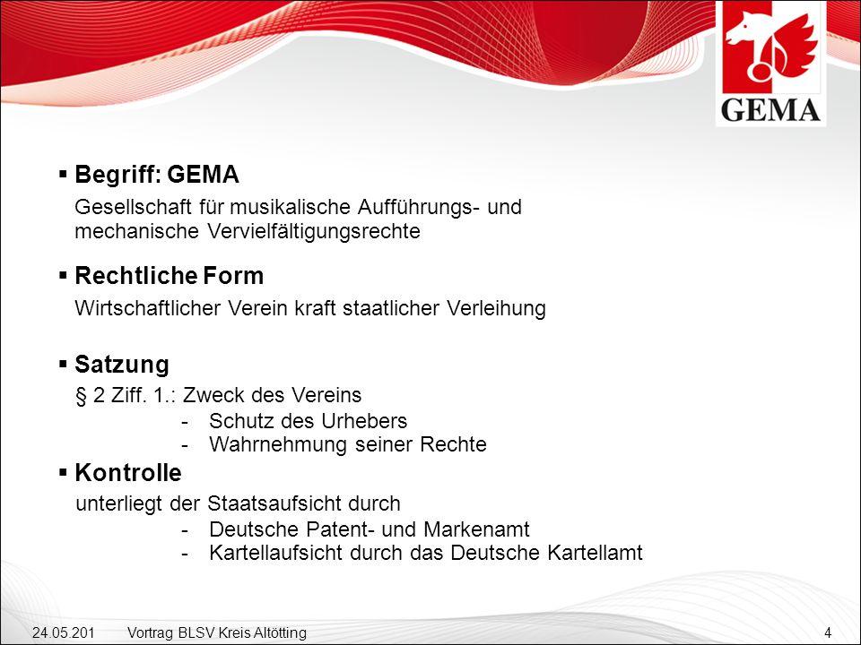 24.05.201 2 Vortrag BLSV Kreis Altötting4 Satzung § 2 Ziff.