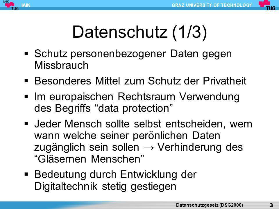 IAIK Datenschutz (2/3) E-Mail, Internet, Mobiltelefone etc.