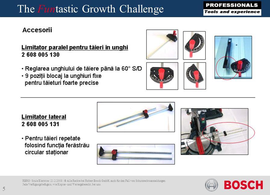 Bosch The Funtastic Growth Challenge RBRO/ Scule Electrice | 21.2.2008 | © Alle Rechte bei Robert Bosch GmbH, auch für den Fall von Schutzrechtsanmeldungen.