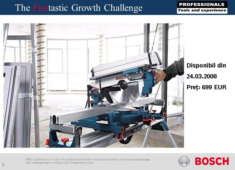 The Funtastic Growth Challenge RBRO/ Scule Electrice | 24.3.2008 | © Alle Rechte bei Robert Bosch GmbH, auch für den Fall von Schutzrechtsanmeldungen.