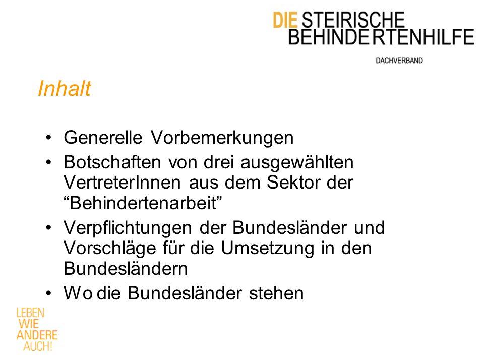 Franz Wolfmayr Die Steirische Behindertenhilfe Franz Josef Straße 3 8200 Gleisdorf +43 (0)3112 4911 - 8153 www.behindertenhilfe.or.at Dachverband@behindertenhilfe.or.at