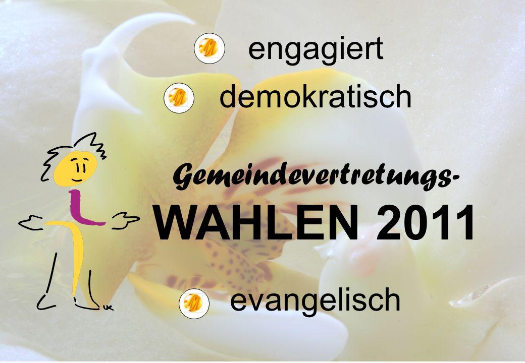 Alle 6 Jahre wird in unserer Evangelischen Kirche gewählt.