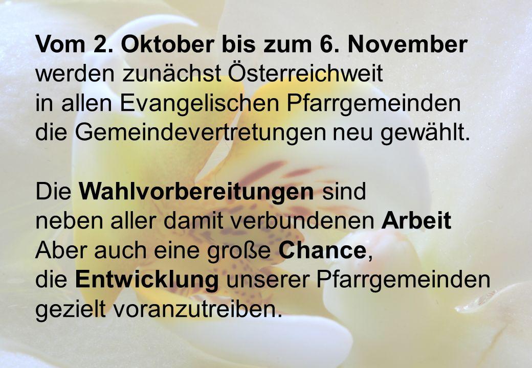 Vom 2. Oktober bis zum 6.