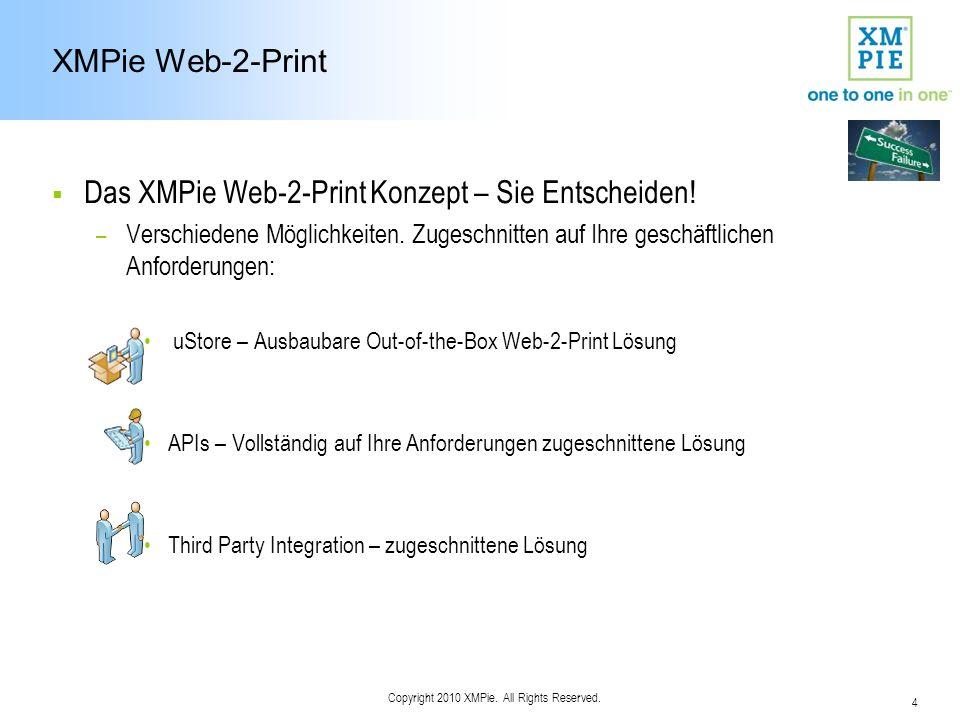 15 Copyright 2010 XMPie. All Rights Reserved. B2B - Registered User Workflow VDP Anpassen B2C