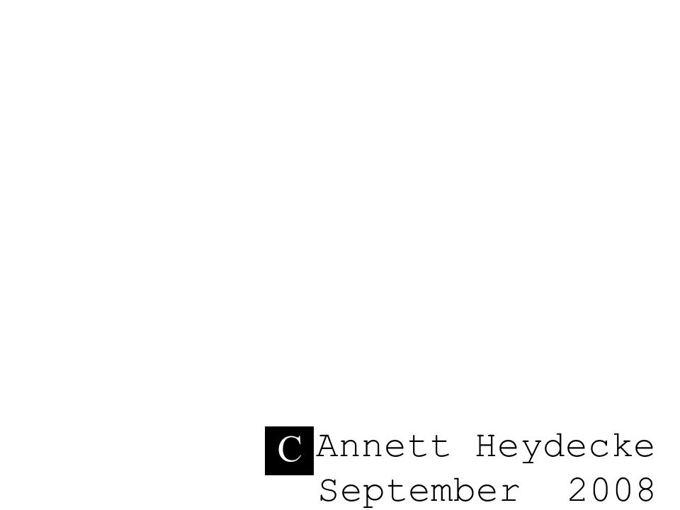 C Annett Heydecke September 2008 C