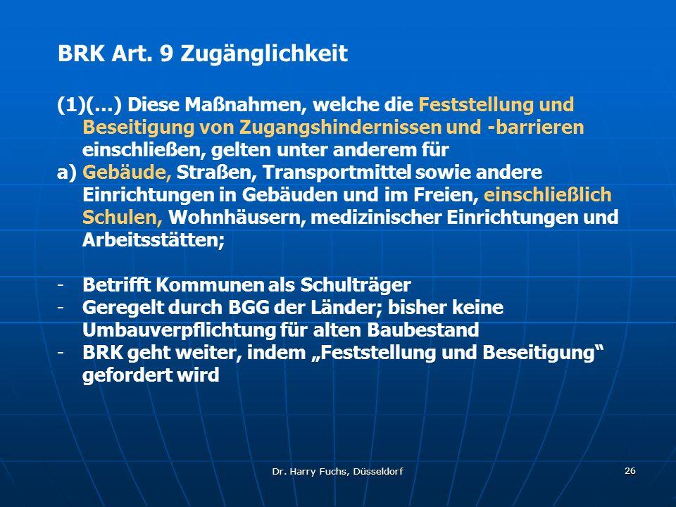 Dr.Harry Fuchs, Düsseldorf 26 BRK Art.