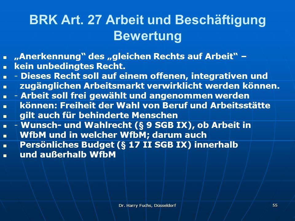 Dr.Harry Fuchs, Düsseldorf 55 BRK Art.