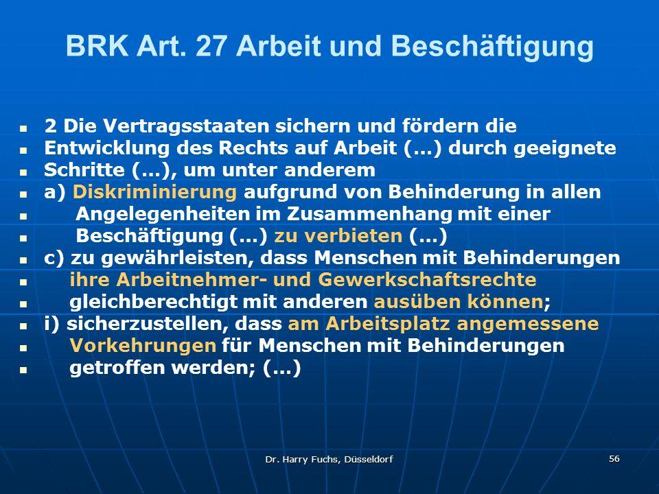 Dr.Harry Fuchs, Düsseldorf 56 BRK Art.