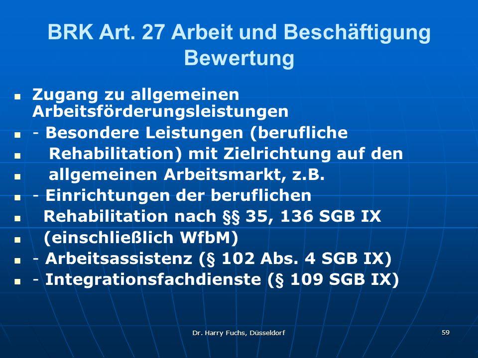 Dr.Harry Fuchs, Düsseldorf 59 BRK Art.