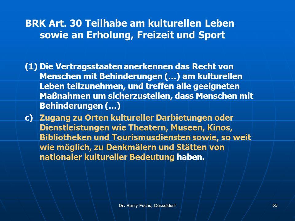 Dr.Harry Fuchs, Düsseldorf 65 BRK Art.