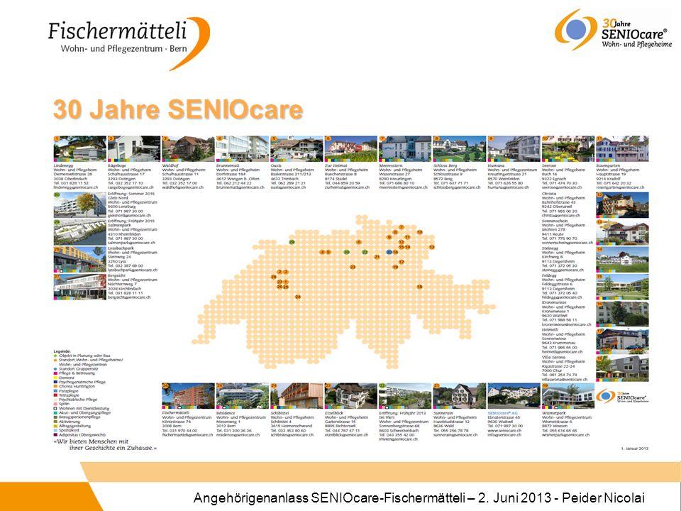 Angehörigenanlass SENIOcare-Fischermätteli – 2. Juni 2013 - Peider Nicolai 30 Jahre SENIOcare