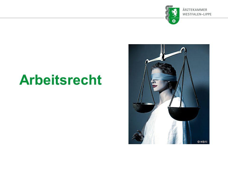 Rechtsstellung eines Arztes in Weiterbildung Regelungen im Arbeitsvertrag .