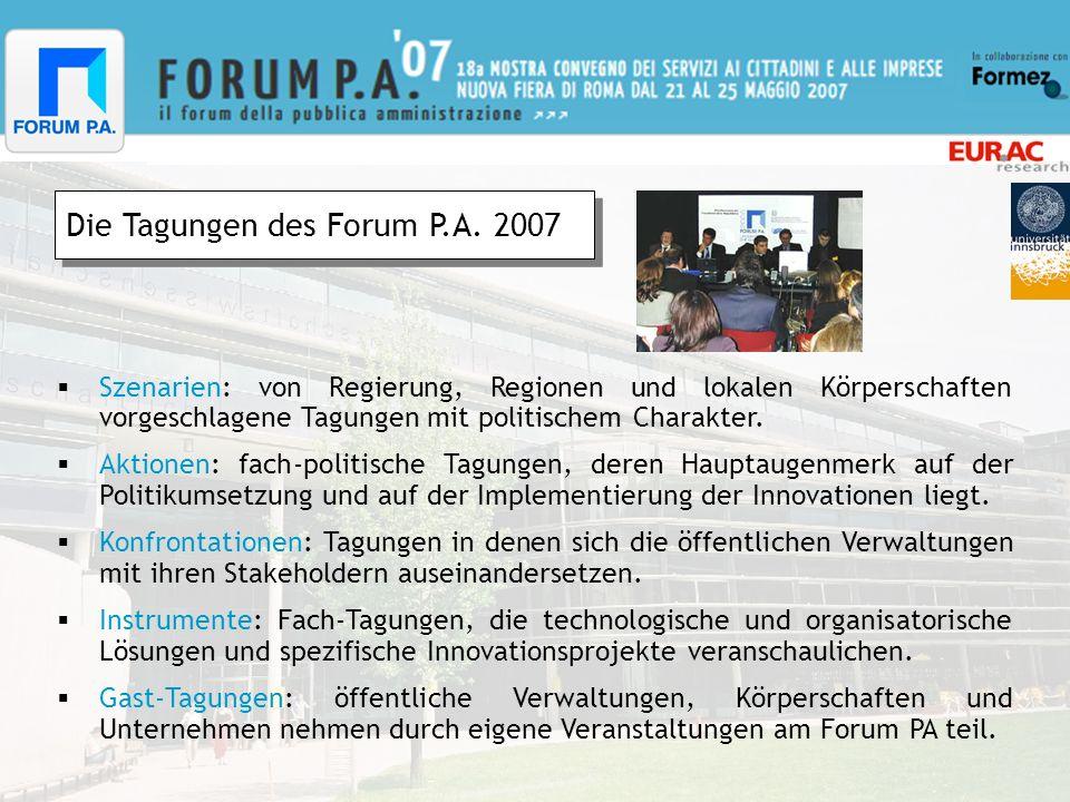 Die Tagungen des Forum P.A.